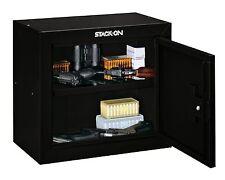 Stack-On Pistol/ammo Security Cabinet Black Safe Storage Lock Steel Key