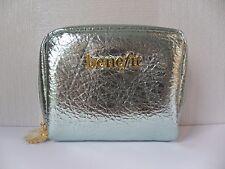 Benefit Metallic Ice Blue Make Up Bag BN