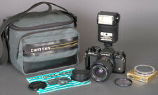Yashica FX-3 Super 2000 35mm SLR Film Camera + 35-70mm Zoom +CS-220 Flash TESTED