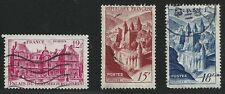 France Scott #591-93, Singles 1948 Complete Set FVF Used