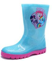 GIRLS BLUE PONY PALS WELLIES WELLINGTON RAIN SPLASH BOOTS INFANT SIZES 6-12