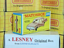 Matchbox Lesney 25d Ford Cortina G.T. auto steer Type F2 EMPTY ORIGINAL BOX ONLY