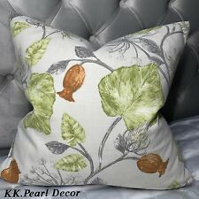 "Beautiful Cushion Cover 18""x18"" Designer Fabric Leaves Design Country Style Home"