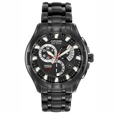 Citizen Eco Drive Men's Calibre 8700 Black Finish Stainless Watch BL8097-52E