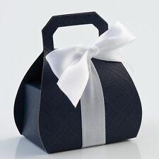 Navy Silk Handbag Box PACK OF 10 Wedding Favour Gift 16201