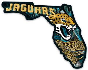 Jacksonville Jaguars Logo Type and Jaguar State of Florida shape Die-cut MAGNET