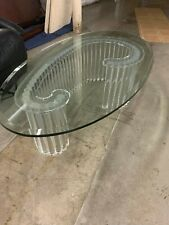 MCM Acrylic Coffee Table with Tempered Glass top