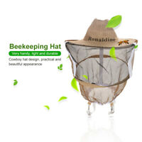 Beekeeping Cowboy Hat Anti Mosquito Bee Insect Bug Veil Face/Head Protector Brim