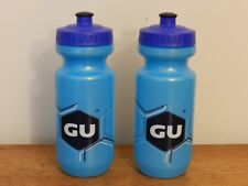 New GU Blue Water Bottles 20oz by Specialized USA, Set of 2