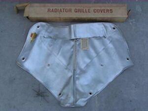 38 Oldsmobile F38 L38 Silver Vinyl Radiator Grille Cover NORS 358