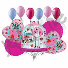 11 pc Happy Mother's Day Tweet Bird Cage Balloon Bouquet Party Decoration Mom