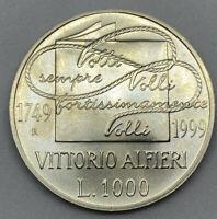 REPUBBLICA ITALIANA - 1000 LIRE ARGENTO 1999 - VITTORIO ALFIERI - FDC