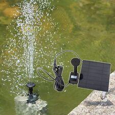 Solar Panel Powered Water Feature Pump Garden Pool Aquarium Pond Fountain 150L/H