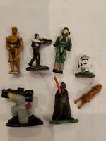Vintage Star Wars Figurines, Micro Machines, Galoob, Darth, C3PO, R2D2,Han Solo,