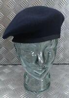 Genuine Hobson of London Military Issue Dark Blue Lined 100% Wool Uniform Beret