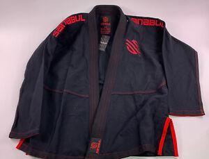 Black and Red Sanabul Gi size A3 Large men Women BJJ MMA JUDO UFC Jiu Jitsu