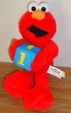 "Sesame Street ELMO Holding Blue Block #1 stuffed 12"" plush Nanco"