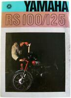 YAMAHA RS100/125 Original Motorcycles Sales Brochure 1974