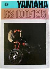 YAMAHA RS100/125 Original Motorcycles Sales Brochure 1974