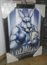 NTH MELB 1999 PREMIERS - LIMITED EDITION ART PRINT SIGNED BY ARTIST - FRAMED