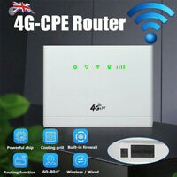 150 Mbit/s 4G LTE WiFi Router Hotspot CPE WLAN SIM-Karte Modem 32 Benutzer DE