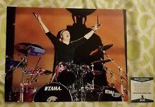 Lars Ulrich of Metallica signed 11x14 photo Beckett / BAS #E21398