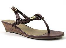 Rampage Women's Cairo Thong Sandals Cognac/Gold Size 10 M