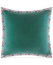 "NEW Martha Stewart Whim Unity Aqua Cotton 18"" Square Decorative Pillow $80 H1107"