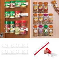 20 Clips Spice Gripper Bottles Jar Rack  Holder Door Wall Organiser Storage Tool