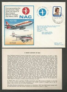 1978 NEW ZEALAND LAST DOMESTIC FLIGHT OF NAC BOEING 737 FLOWN COVER