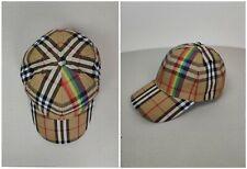 Burberry Baseball Cap Hat Unisex Christopher Bailey LGBT Nova Check Rainbow Sz L
