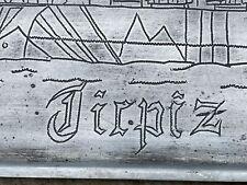 More details for  ww2 german k.m. tirpitz tray original etched pow ex monte cassino museum.