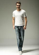 FOX JEANS Men's Norton Regular Fit Straight Blue Denim Jeans SIZE 42