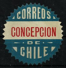 CHILE, OFFICIAL SEAL, CONCEPCIÓN, SAW TOOTH, MNG