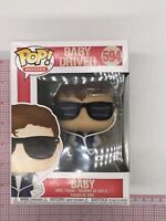 Funko POP! Movies Baby Driver Baby #594 Vinyl Figure Vaulted NOT MINT BOX H03