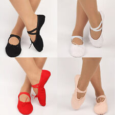 Kid Adult Canvas Soft Ballet Dance Shoes Pointe Dancing Gymnastics Slippers Top