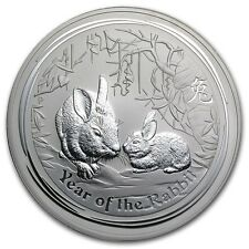 Perth Mint Australia $30 Lunar Series II Rabbit 2011 1 kg kilo .999 Silver Coin