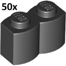 LEGO 50x BLACK 1x2 BRICK LOG PATTERN LOT cabin piece swamp city part #30136