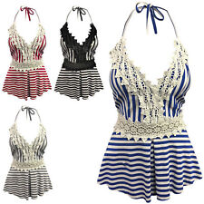 Sleeveless Striped Tops & Shirts Size Petite for Women