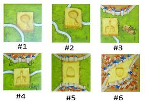 Carcassonne ( SPARE TILES ) CROP CIRCLES Mini Expansion new design corn signs