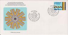 (OP-21) 1977 UN FDC FS1,10 combat racism UN(certified) (D)
