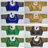 Readymade Saree Blouse Silk Blouse Belly Designer sari Blouse Elbow Sleeve Choli
