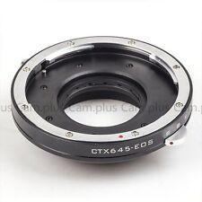 Adjustable Aperture Contax 645 Mount Lensto Canon (D)SLR Camera Adapter 5DII 1D