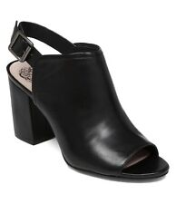 Vince Camuto Brianny Slingback Block Heel Shootie, Size 11 Black VC-BRIANNY