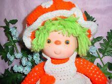 Handmade Soft Body Crochet Yarn Doll, needs  TLC