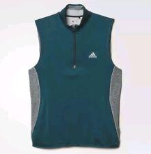 Adidas Climaheat 1/4 Fleece Vest Size Medium Green/Grey AE9003