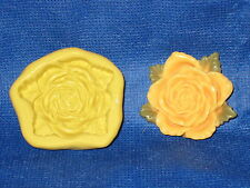Rose Flower Push Mold Flexible Resin Clay Candy Food Safe Silicone  #671 Soap