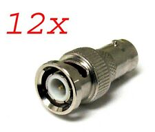 LOT OF 12 F-Type Female to BNC Male Coax RF Connector Adapter RG6 RG59 CCTV