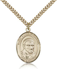 """Saint Vincent De Paul Medal For Men - Gold Filled Necklace On 24"""" Chain - 30 ..."""