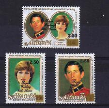 AITUTAKI 1987 RUBY WEDDING SET SG 572-574 MNH.